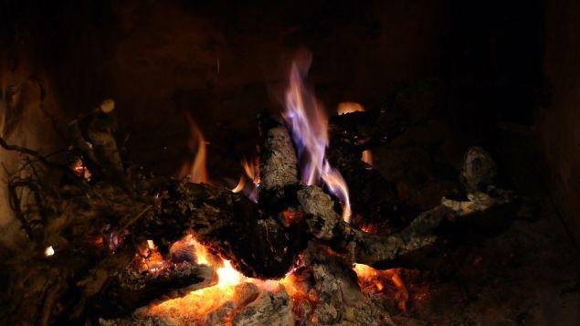 fuego de chimenea